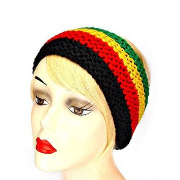 Red, Gold, Black & Green Knit Headband