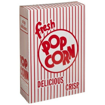 Dixie 5E Popcorn Box, Paper, Red/White, 6 1/2 x 9 7/10 x 2 3/5 (Case of 250)