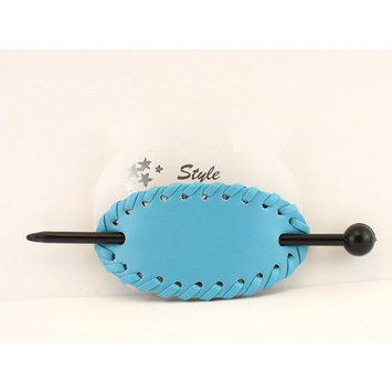 Leather With Plastic Slide Stick Oval Hair Pin Barrette