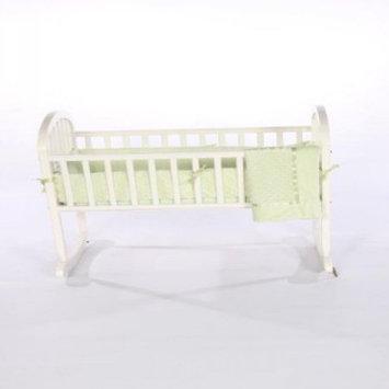 Baby Doll Bedding Heavenly Soft Cradle Bedding Set Color: Sage