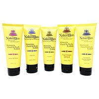 The Naked Bee Travel Size Floral Lotion Variety Pack of 5 – Unscented, Jasmin & Honey, Lavender & Beeswax Absolute, Chai Tea, and Nag Champa Sandalwood and Indian Massala (2.25 Fluid Ounce Bottles)