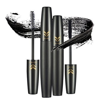Fashion Black Eyebrow Mascara,CYCTECH 2 PCS Waterproof Women False Eye Lashes Makeup