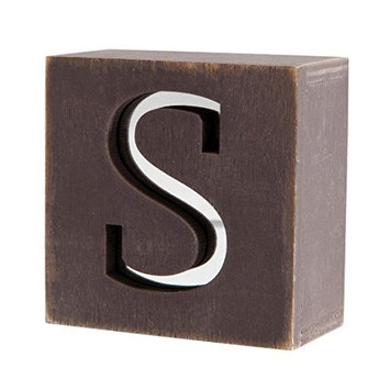 Mirror Rustic Hand Painted Letter Block - S by Two Up Two Down