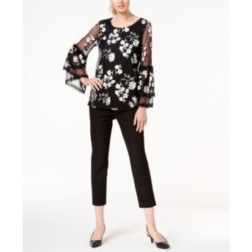 Printed Bell-Sleeve Top & Cropped Slim-Leg Pants, Created for Macy's