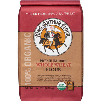 King Arthur Flour Premium 100% Whole Wheat Flour, 2 lbs, (Pack of 12)