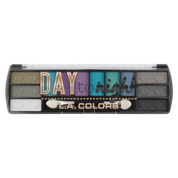 LA Colors Day To Night Eyeshadow Palette, After Dark, 12 Ct