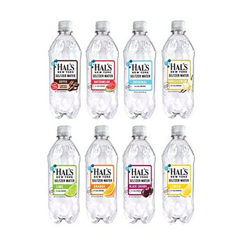 Hal's New York Seltzer Water 8 Flavor Variety Pack, 20 ounces (8 Pack)