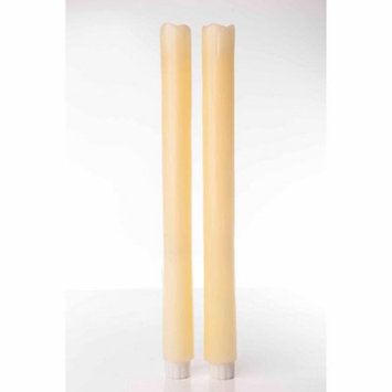 Theamazingflamelesscandle Flameless Taper Candles (Set of 2), Beeswax