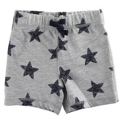 First Impressions Baby Boys Navy Stars-Print Gray Shorts [baby_clothing_size: baby_clothing_size-6-9months]