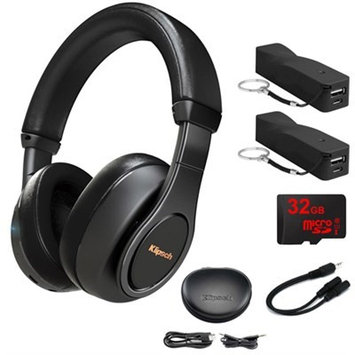 Klipsch Reference Over-Ear Bluetooth Headphones Black w/ 32GB Memory Card Bundle