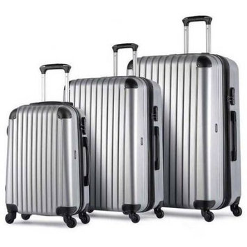Proht Powered By Inland ProHT AnyPlace 3-Piece Luggage Set, 28 Inch, 24 Inch and 20 Inch Set, ABS Material, Expandable