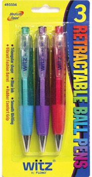 Flomo 3 Retractable Ball Pens (Pack of 48)