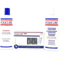 Folicure Bundle with Shampoo and Conditioner includes Ampoules