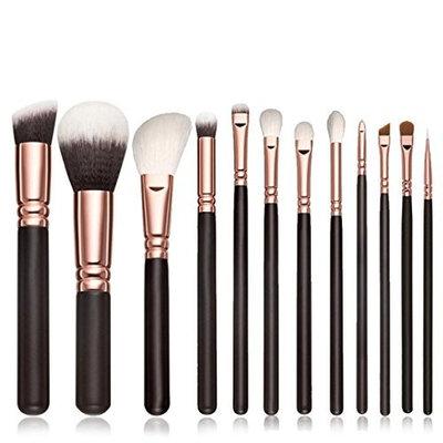 NOMENI 12PCS Makeup Brushes Cosmetic Set Eyeshadow Brush Blusher Cosmetic Tools