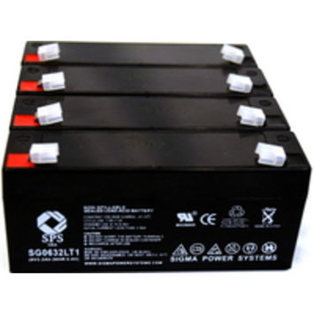 SPS Brand 6 V 3.2 Ah Replacement Battery with Terminal T1 for Powersonic PS-630 (4 PACK)