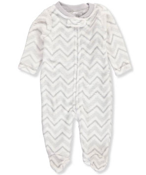 Little Beginnings Unisex Baby Plush Footed Coverall - gray, 6 - 9 months