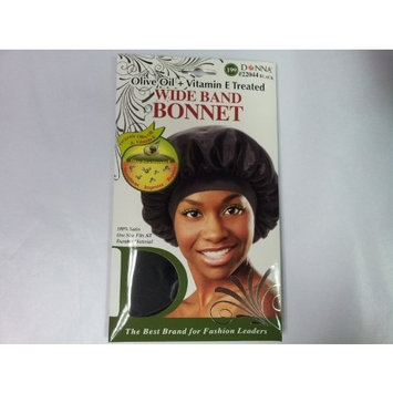 Donna Wide Band Bonnet (Olive Oil + Vitamin E Treated) Black