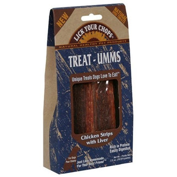 Lick Your Chops Treat-Umms Treats for Dogs [Chicken Strips with Liver]
