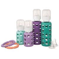 Lifefactory Mixed 4 Bottle Starter Set - Mint/Lavender/Kale/Grape