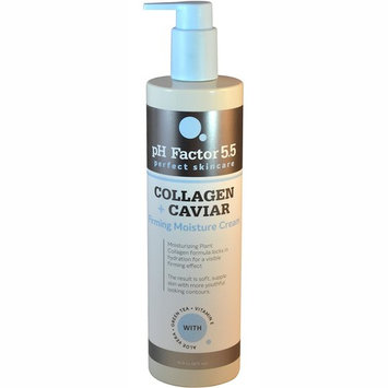 PH Factor 5.5 Anti-Aging Collagen Cream for face and body. Firming cream with Plant Collagen, Caviar Green Tea, Vitamin E, and Aloe Vera. Large 16oz bottle with pump.