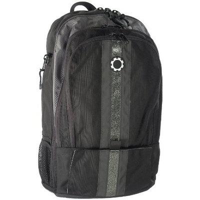 DadGear Backpack Diaper Bag - Silver Center Stripe