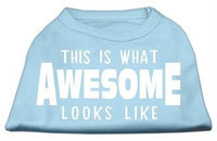Mirage Pet Products 51-127 MDBBL This is What Awesome Looks Like Dog Shirt Baby Blue Med - 12