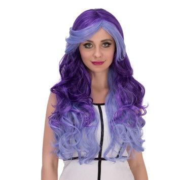 Besmall women wigs human hair wig Synthetic Hair cosplay wig halloween Purple 70