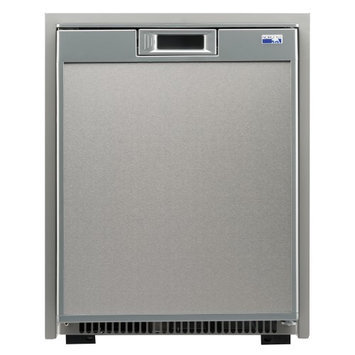 Norcold Universal Voltage Marine Refrigerator, Stainless Steel, 2 Cubic Ft.