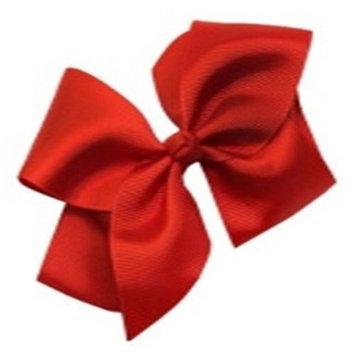 SODIAL(R)Boutique Elegant Handmade Kids Bowknot Alligator Hair Clips,Red