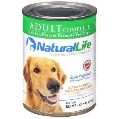 Natural Life Pet Products Natural Life BG16183 Natural Life Adult Dog Can - 12x13.2OZ