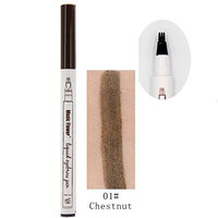 Seamount Liquid Eyebrow Pencil with Four Tips Waterproof Long-Lasting Brow Eyebrow Pencil Brow Gel for Eyes Makeup