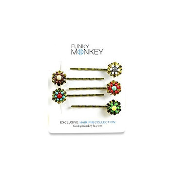 Bobby Pin Hair Accessory Fashion Set (Garden Glam) Gold; 5 piece set
