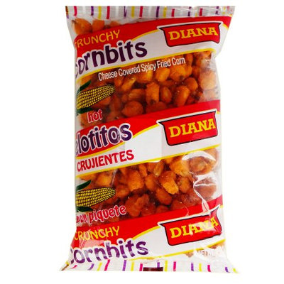 Prodiana Cornbits Hot Snack 4.30 oz - Elotitos Picante (Pack of 21)