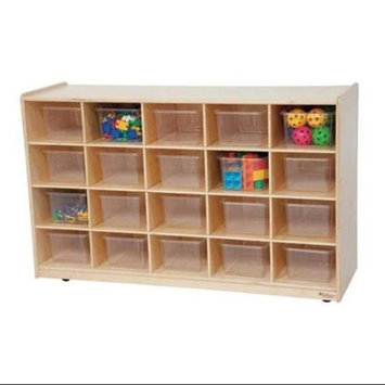 Kid's Play 20 Tray Storage Unit w Clear Trays (Natural)
