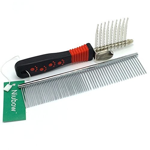 Niubow Dematting Comb [Dematting Comb + Grooming Comb]