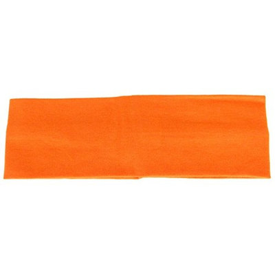Cotton Soft Stretch Headbands Yoga Softball Sports Hair 2-1/2'' Orange