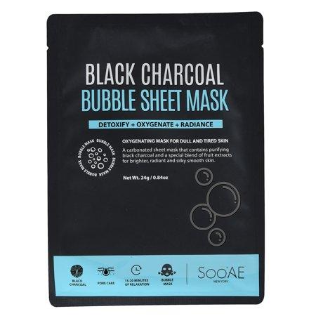 Soo Ae Black Charcoal Bubble Sheet Mask