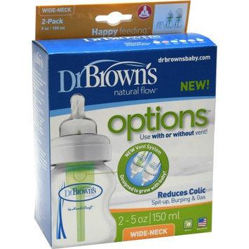 Babies R Us Dr. Brown's 2-Pack 5oz Options Wide-Neck Bottle