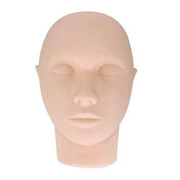 Dragon Grain Pro Mannequin Training Head Cosmetology Face Head for Eyelashes Makeup Practice