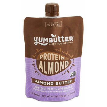 Protein Almond Butter by Yumbutter – Plant-based Protein with Probiotics, Keto Nut Butter, Paleo, Gluten Free, Vegan, Non-GMO, 6.2oz Pouch