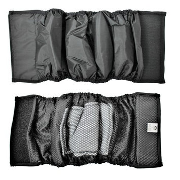 PACK – 2pcs WATERPROOF Diapers Dog Belly Band WITH ABSORBENT Pad Male Wrap Reusable Black sz XXL (waist 18