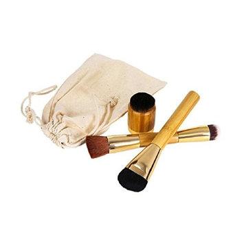 Lookatool 3 PCS Makeup Brushes Powder Concealer Blush Contour Brush Wooden Brush (G