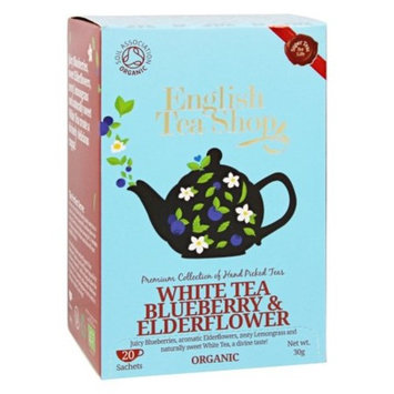 English Tea Shop - Organic White Tea Blueberry and Elderflower - 20 Sachet(s)
