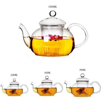 Glass Filtering Tea Maker Teapot 600ml personal tea pot BY BA Collections