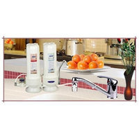 Crystal Quest CQE-CT-00107 Countertop Replaceable Double Multi Ultra Water Filter System