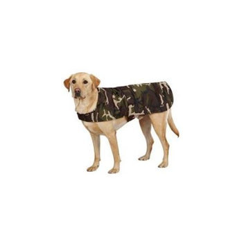 Casual Canine Camo Barn Coat Green, Small/Medium