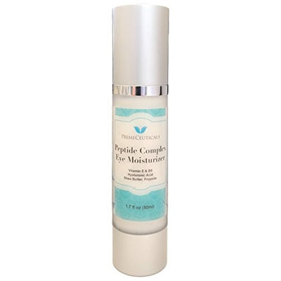 Primeceuticals Peptide Complex Day Eye Moisturizer with Natural and Organic Ingredients, antioxidants, humectants, peptides, fruit acids, botanical actives, Vitamin E, B5, Shea Butter. 1.7 Oz - 50 ml