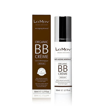 Organic BB Cream - All In One Tinted Moisturizer, Foundation and Natural Sunscreen - For Fresh and Flawless Skin in an Instant - Medium - Best For Medium or Dark Skin Tones and Deep Complexions