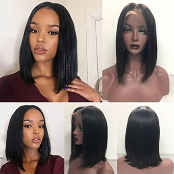 Atina Queen Lace Front Wig Straight Human Hair 150% Density Glueless Lace Wigs Bob Wig Brazilian Virgin Hair Natural Looking With Baby Hair For Black Women