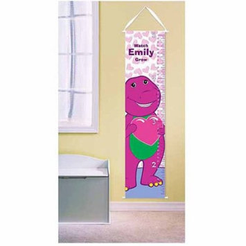 Personalized Barney Hearts Growth Chart